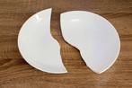 Dinner plate broken in two pieces